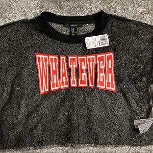 Forever 21 Tops - Whatever Sheer Mesh Top